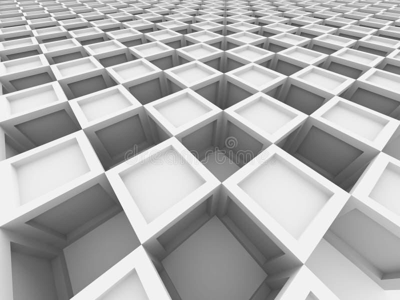 Abstrakter Würfel blockiert Architektur-Hintergrund stock abbildung