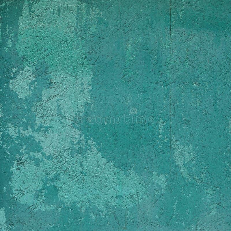 Abstrakter Wandhintergrund des blauen Grüns des Schmutzes stock abbildung