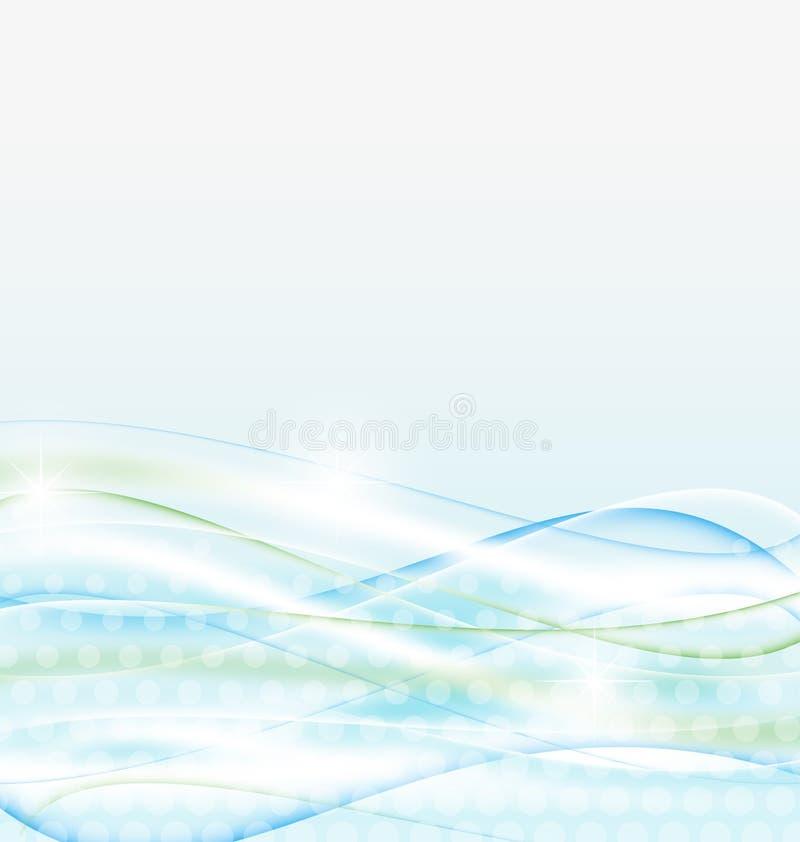 Abstrakter Wasserhintergrund, wawy Auslegung stock abbildung