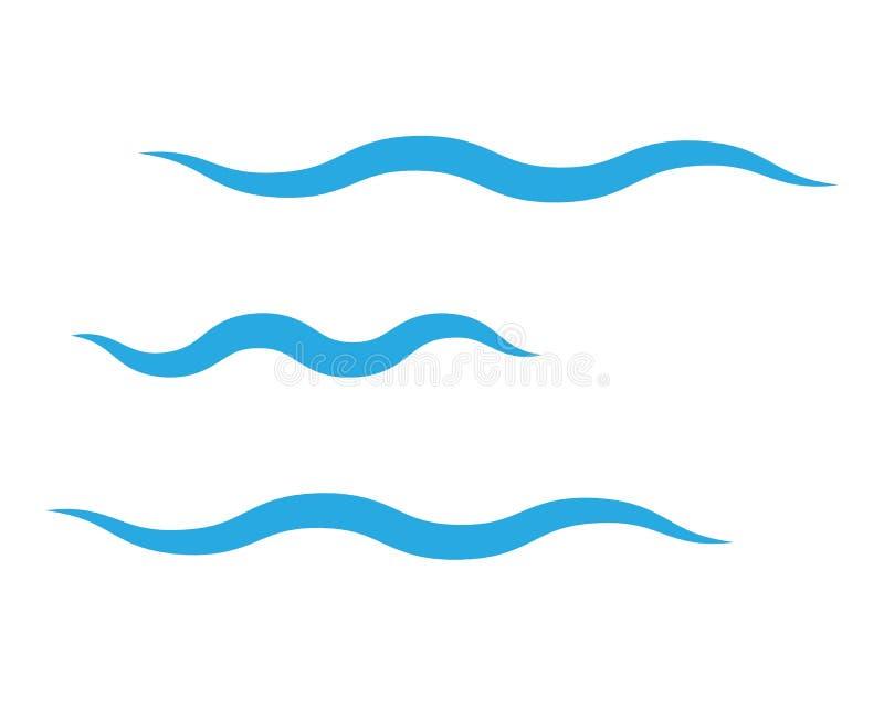 Abstrakter Wasserwellen-Entwurfshintergrund vektor abbildung