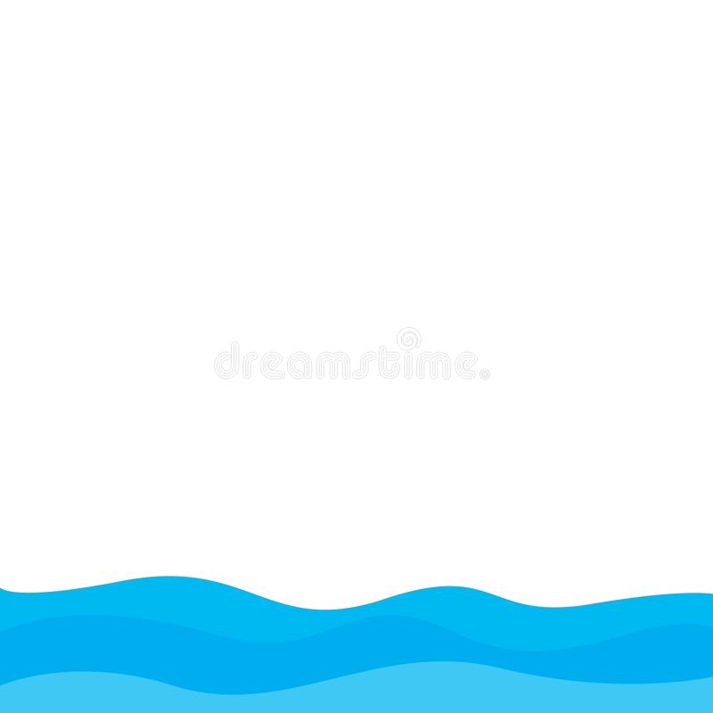 Abstrakter Wasserwellenvektor-Illustrationsentwurfshintergrund lizenzfreie abbildung