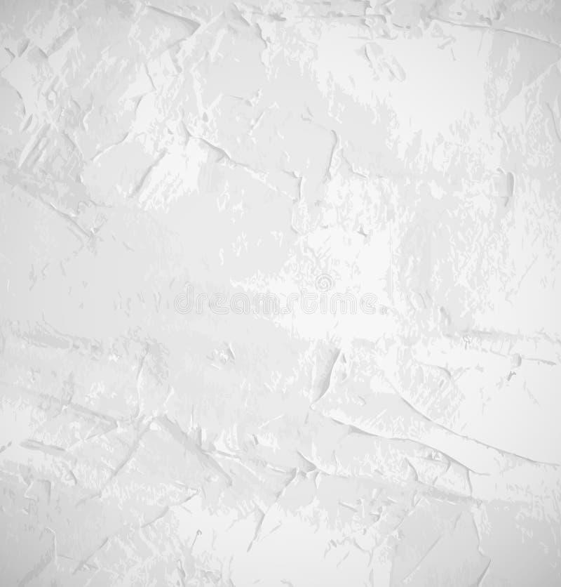 Abstrakter weißer alter Schmutzwandhintergrund stock abbildung