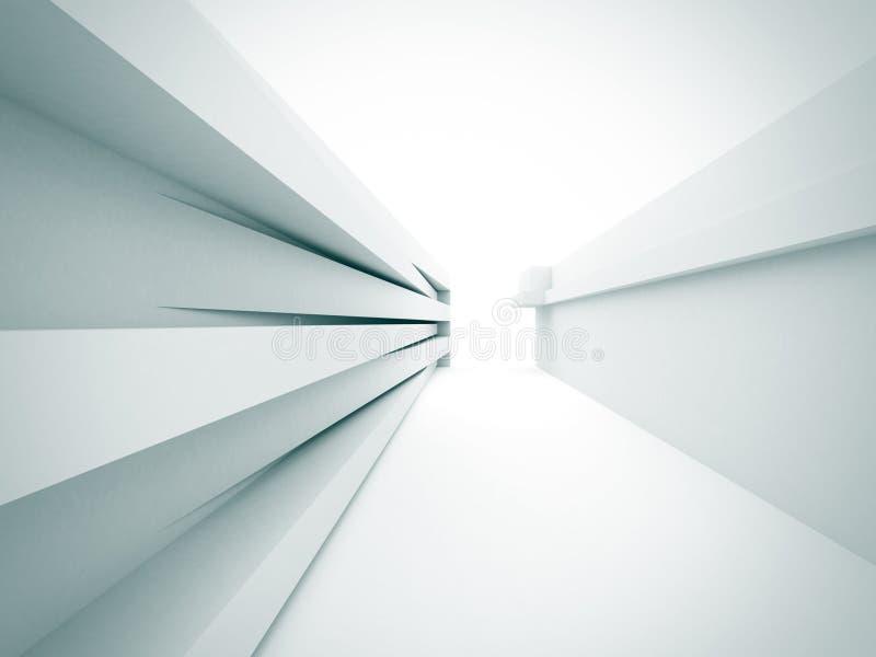 Abstrakter weißer Architektur-Bau-Hintergrund lizenzfreie abbildung