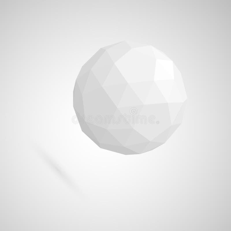 Abstrakter weißer Bereich gemacht von den geometrischen Formen stock abbildung