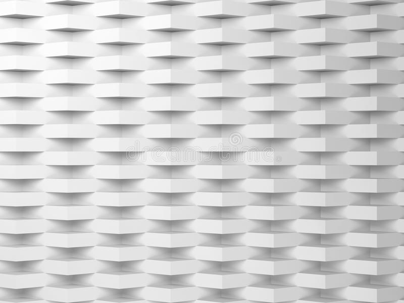 Abstrakter weißer digitaler Hintergrund, Muster 3d vektor abbildung