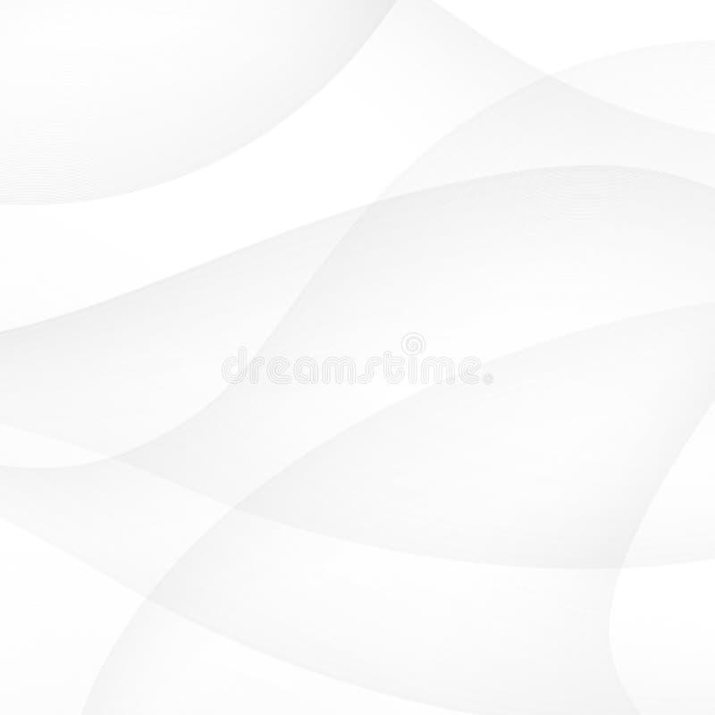 Abstrakter weißer Hintergrund mit glatten Zeilen lizenzfreie abbildung