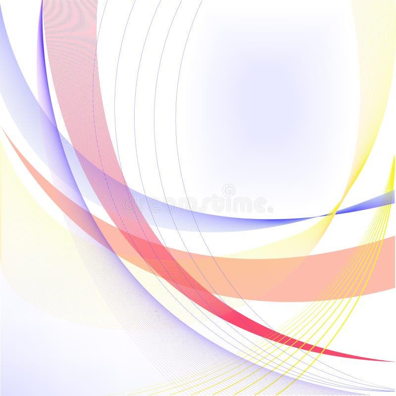 Abstrakter weißer Hintergrund mit Zeilen lizenzfreie abbildung