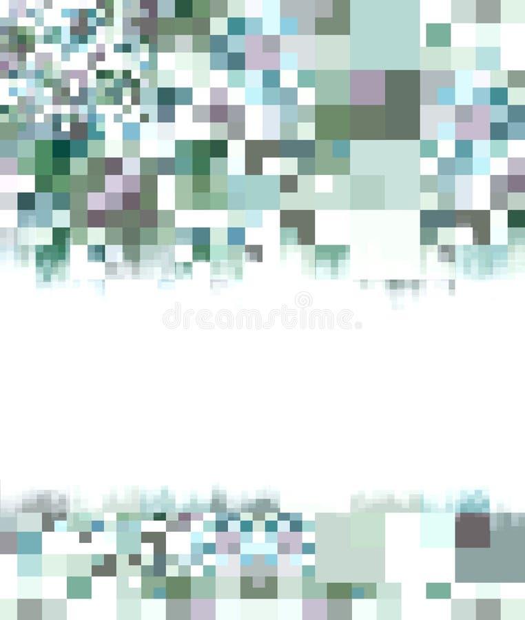 Abstrakter weißer u. blauer Hintergrund stock abbildung