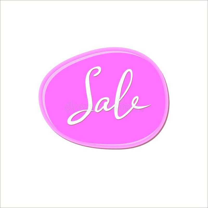Abstrakter weißer Verkauf unterzeichnen vorbei rosa Kaugummifleck auf weißem Hintergrund Farbfarbentropfen Nagellackspritzen vektor abbildung