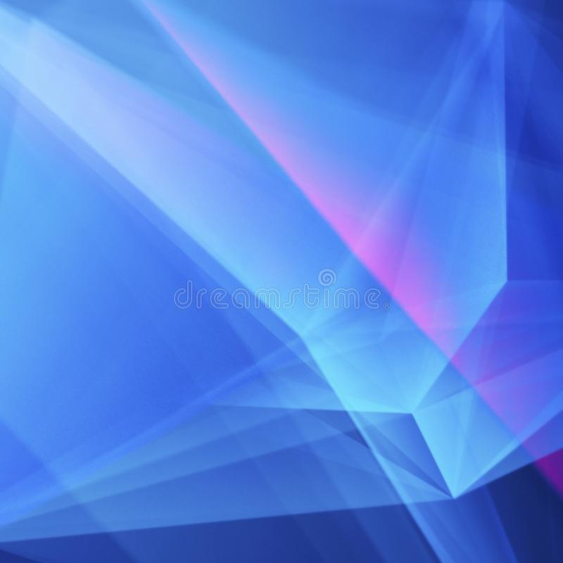 Abstrakter weicher Blau-purpurroter geometrischer Hintergrund stock abbildung