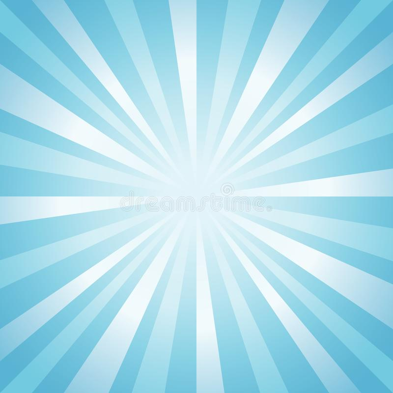 Abstrakter weicher hellblauer Strahlnhintergrund Vektor vektor abbildung