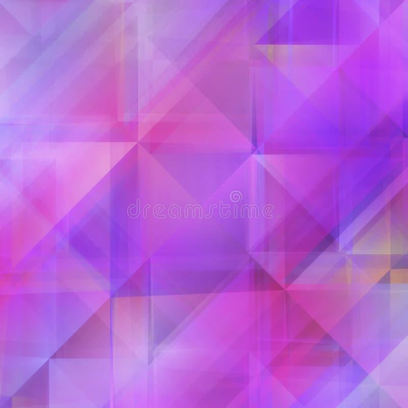 Abstrakter weicher purpurroter geometrischer Hintergrund stock abbildung