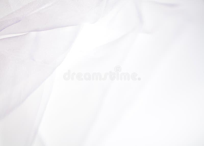 Abstrakter weicher weißer Gewebehintergrund lizenzfreie stockbilder