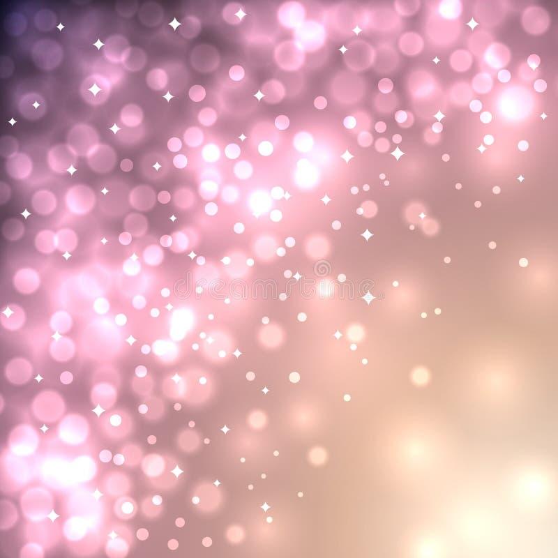 Abstrakter WeihnachtenBokeh Hintergrund vektor abbildung