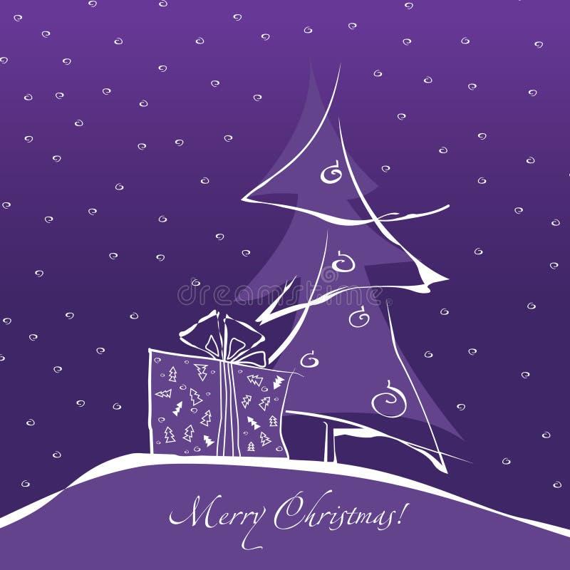 Abstrakter Weihnachtsbaum stock abbildung