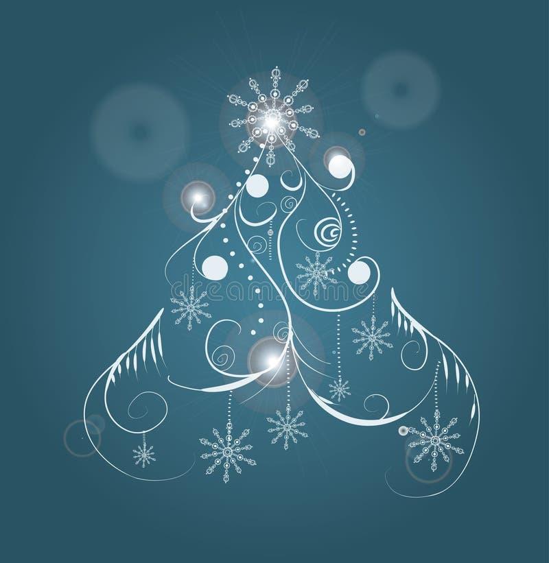 Abstrakter Weihnachtsbaum lizenzfreie stockfotos