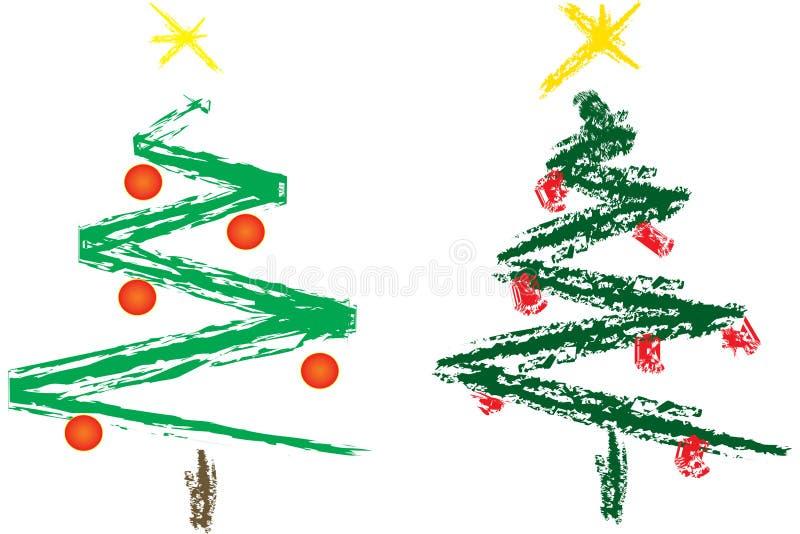 Abstrakter Weihnachtsbaum lizenzfreie abbildung