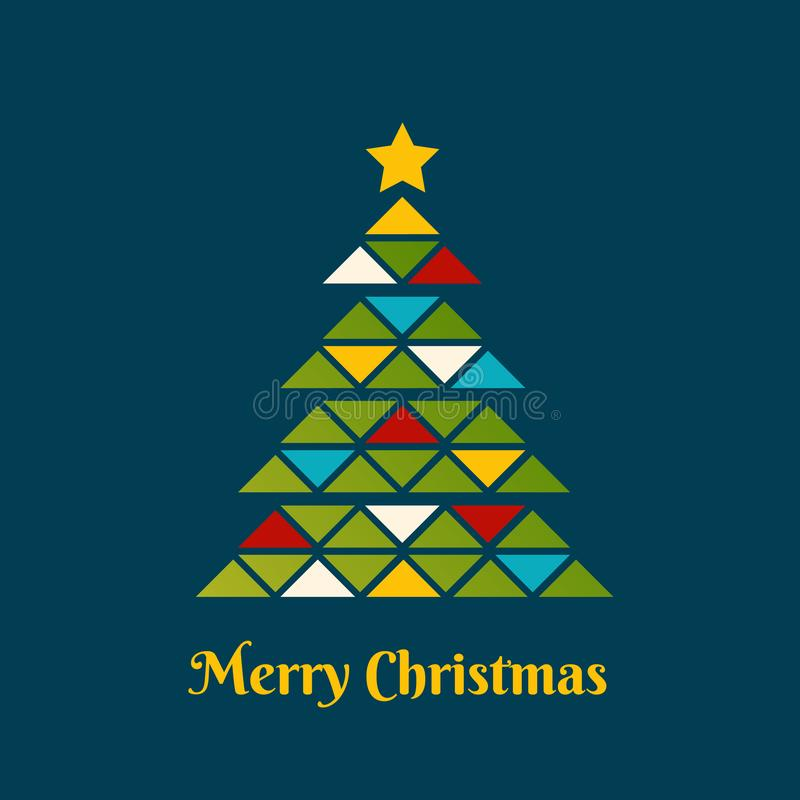 Abstrakter Weihnachtsbaum gebildet durch Dreiecke lizenzfreie abbildung