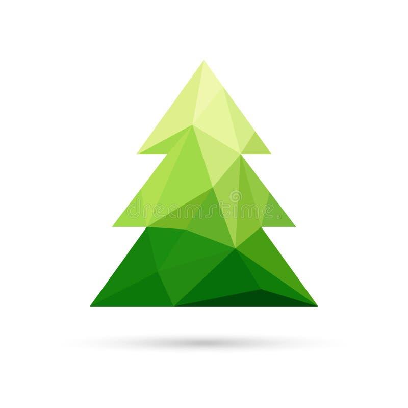 Abstrakter Weihnachtsbaum gemacht von den Dreiecken stock abbildung
