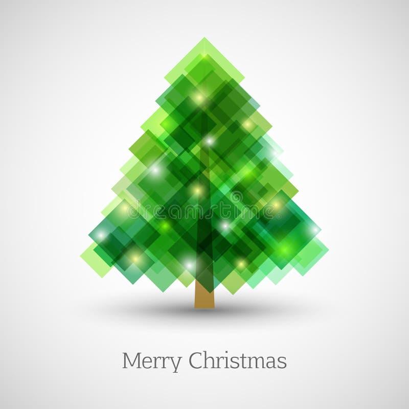 Abstrakter Weihnachtsbaum gemacht von den grünen Quadraten vektor abbildung
