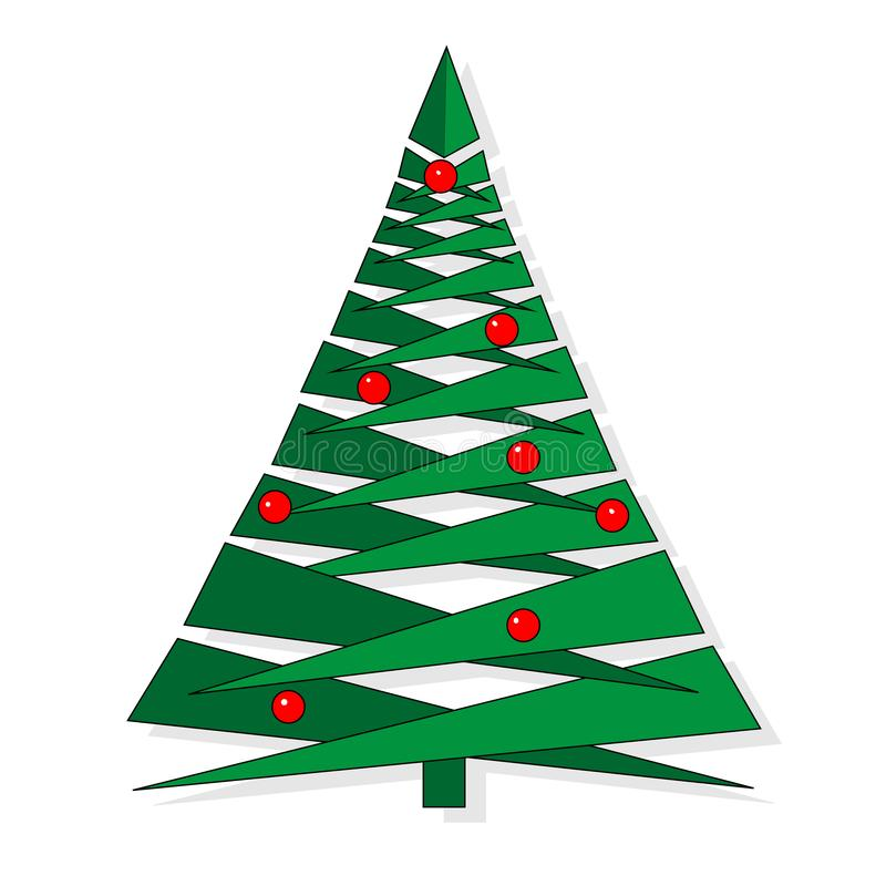 Abstrakter Weihnachtsbaum gemacht von den gr?nen Dreiecken Weihnachtsbaum-Gru?kartenhintergrund Vektor illustratrion vektor abbildung