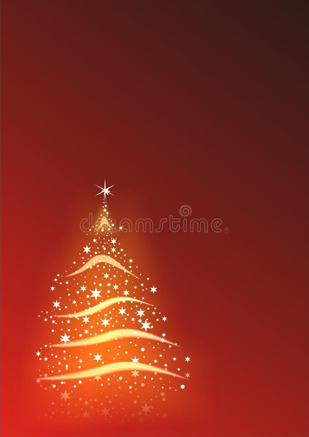 Abstrakter Weihnachtshintergrund vektor abbildung
