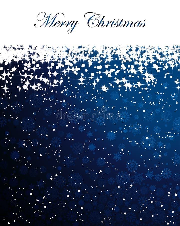 Abstrakter Weihnachtshintergrund mit Schneeflocken vektor abbildung