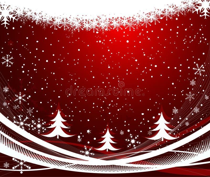 Abstrakter Weihnachtshintergrundvektor stock abbildung
