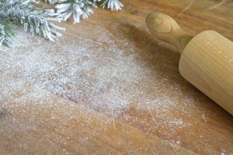 Abstrakter Weihnachtslebensmittelschutzträger und kochen Hintergrund lizenzfreies stockfoto