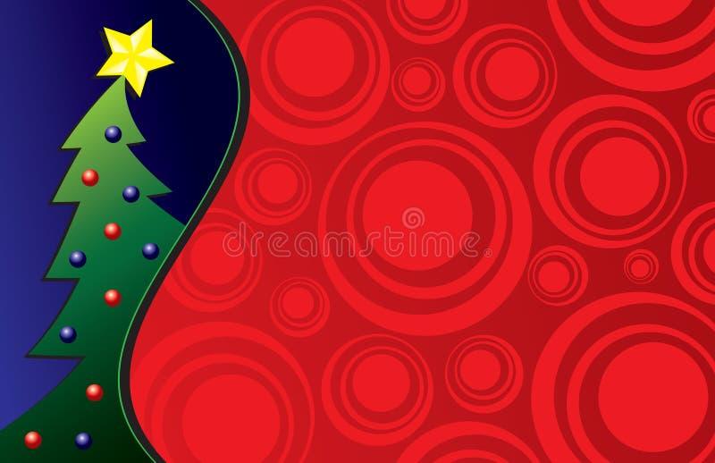 Abstrakter Weihnachtsvektor   lizenzfreie abbildung