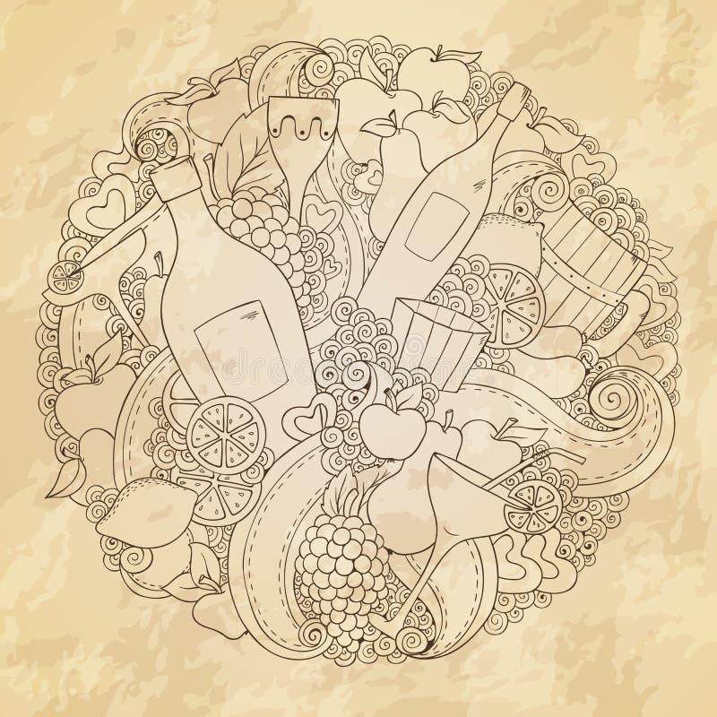 Abstrakter Wein des Schmutzes, Liebesdesign vektor abbildung