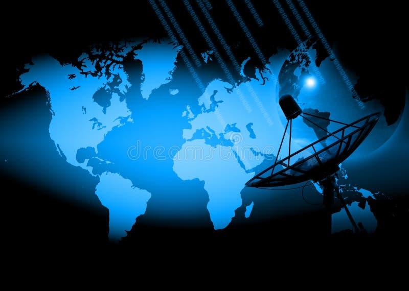 Abstrakter Welttechnologiehintergrund lizenzfreies stockfoto