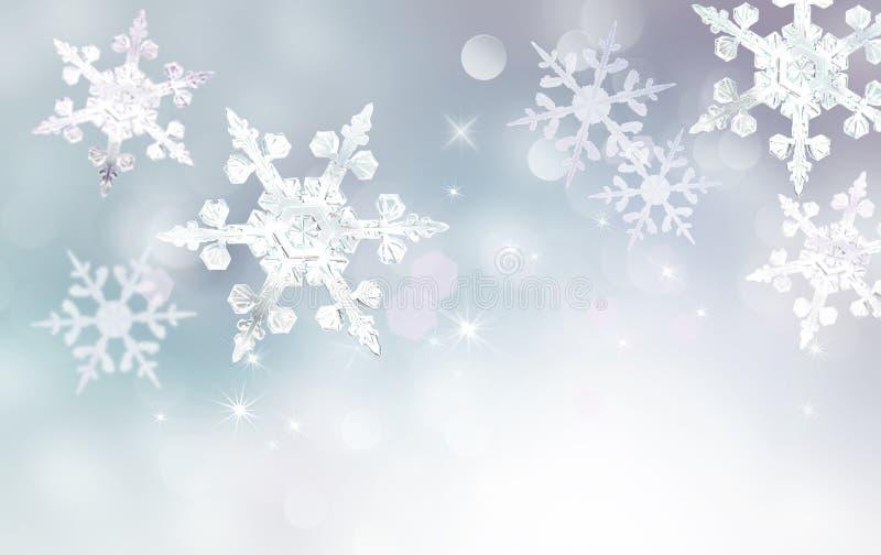 Abstrakter Winterhintergrund stock abbildung