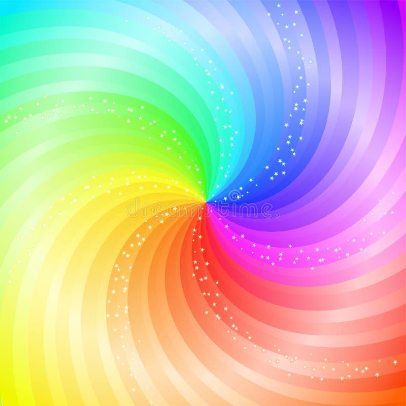 Abstrakter wirbelnder Regenbogen-Hintergrund stock abbildung