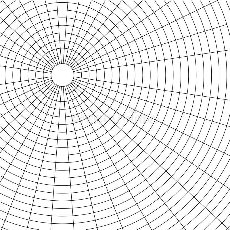 Abstrakter wireframe Rasterfeldhintergrund stock abbildung