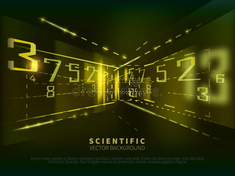 Abstrakter wissenschaftlicher Hintergrund mit Zahlen stock abbildung