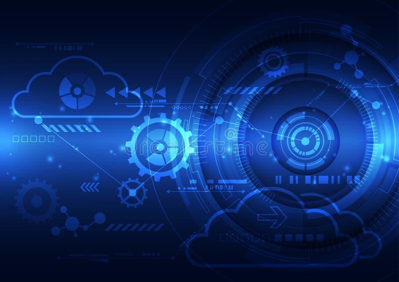 Abstrakter wissenschaftlicher zukünftiger Technologiehintergrund, Vektorillustration lizenzfreie abbildung