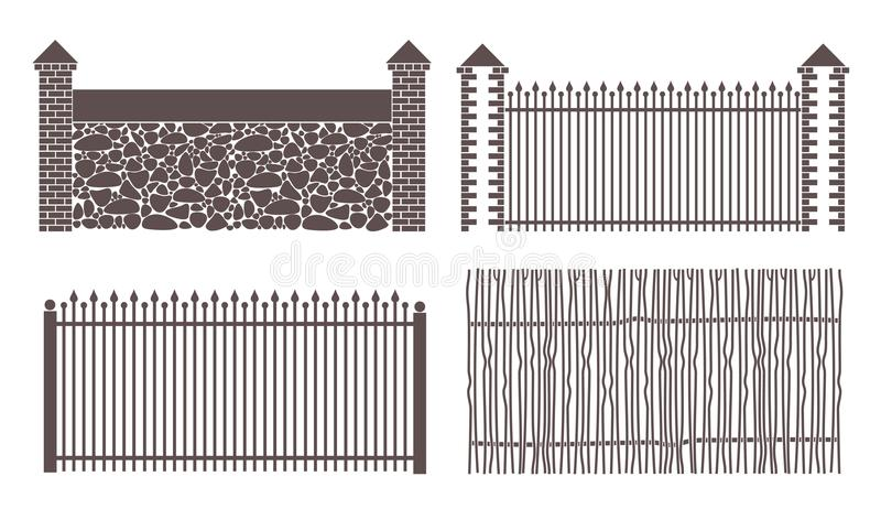 Abstrakter Zaun lizenzfreie abbildung
