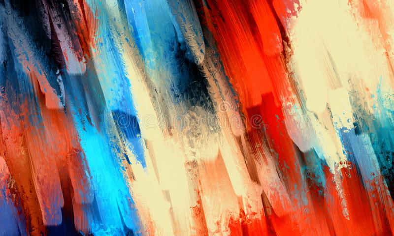 Abstraktes Ölgemälde stock abbildung