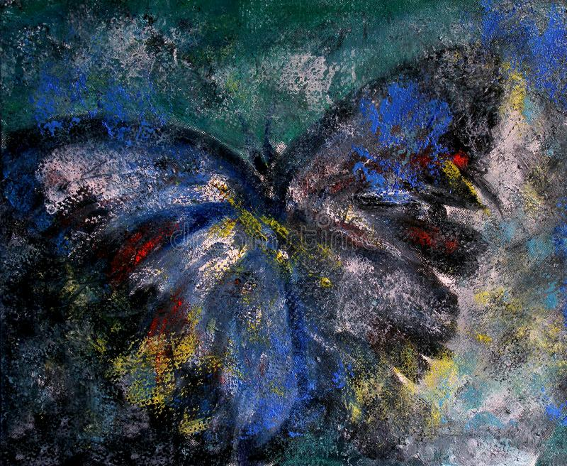 Abstraktes Ölgemälde des Schmetterlinges vektor abbildung