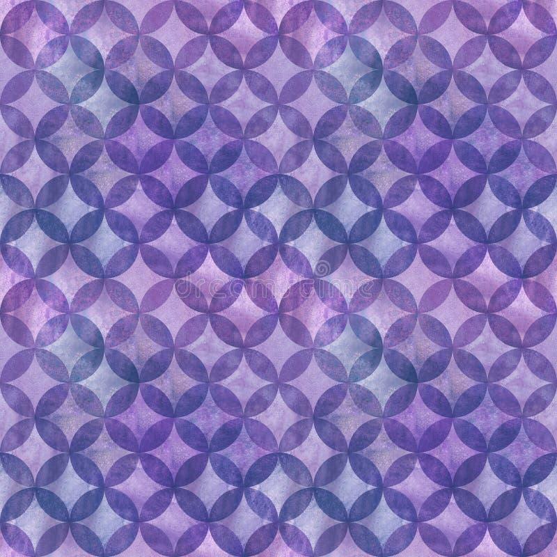 Abstraktes Überschneidungsnahtloses Muster der kreise stockfotos