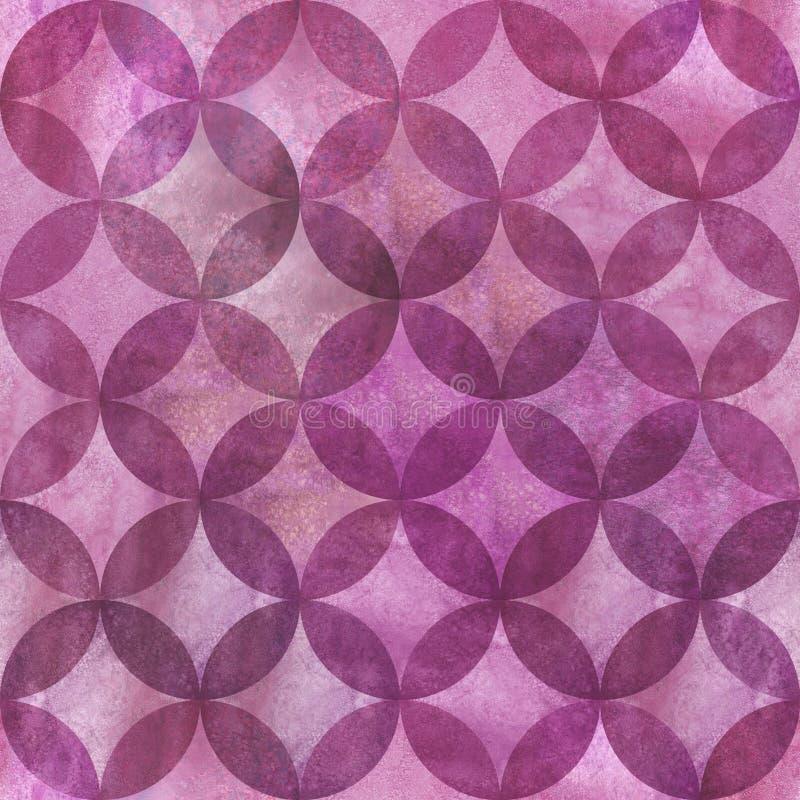 Abstraktes Überschneidungsnahtloses Muster der kreise lizenzfreies stockfoto