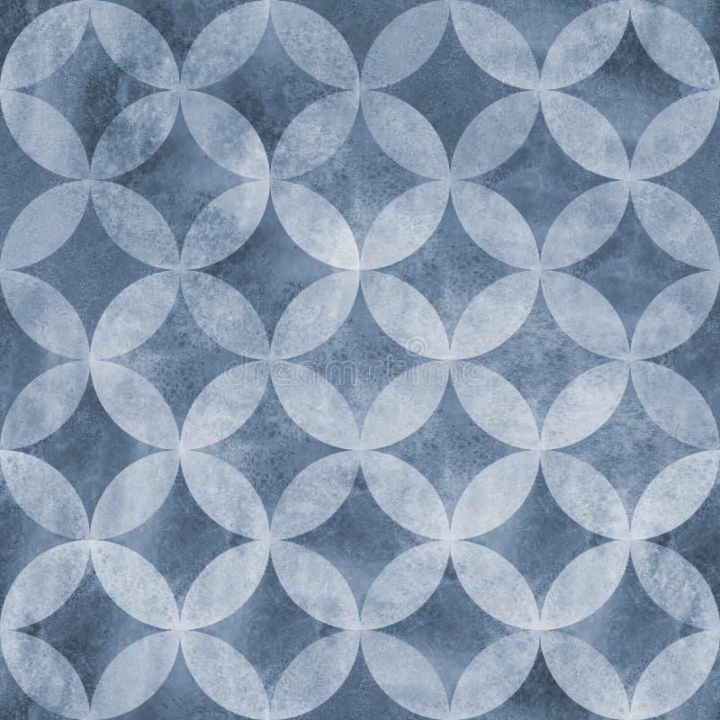 Abstraktes Überschneidungsnahtloses Muster der kreise lizenzfreie stockfotografie
