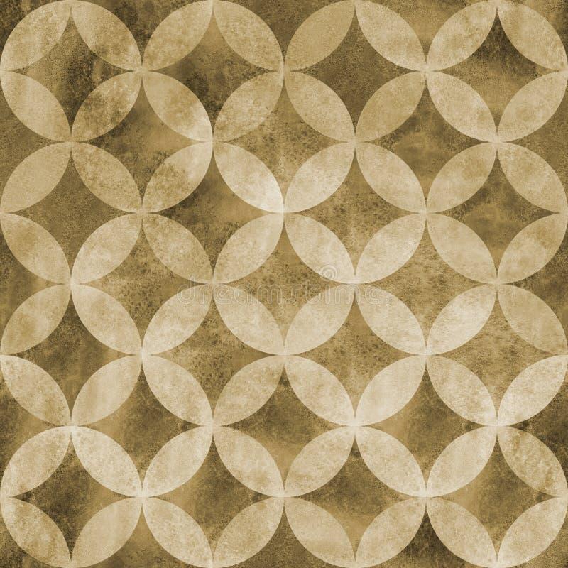 Abstraktes Überschneidungsnahtloses Muster der kreise stockbilder