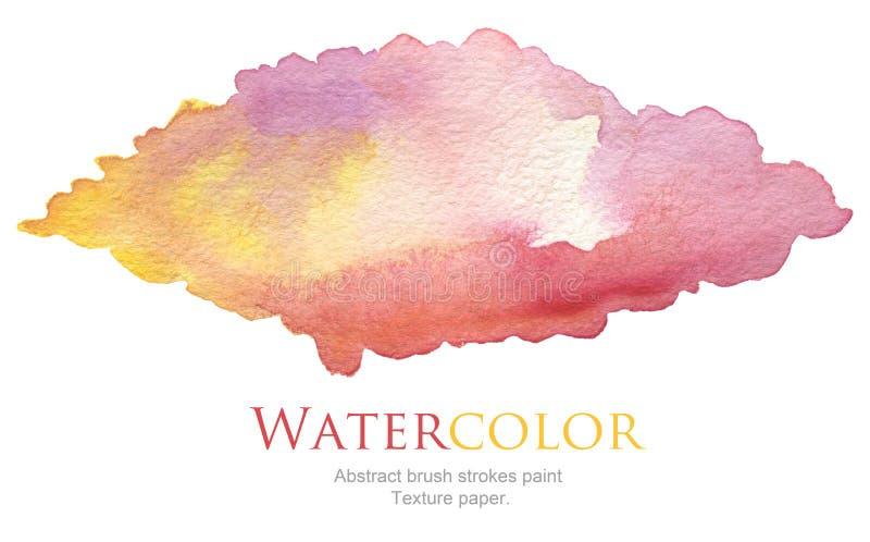 Abstraktes Acryl und Aquarell bürsten Anschläge gemalten Hintergrund lizenzfreie stockfotos