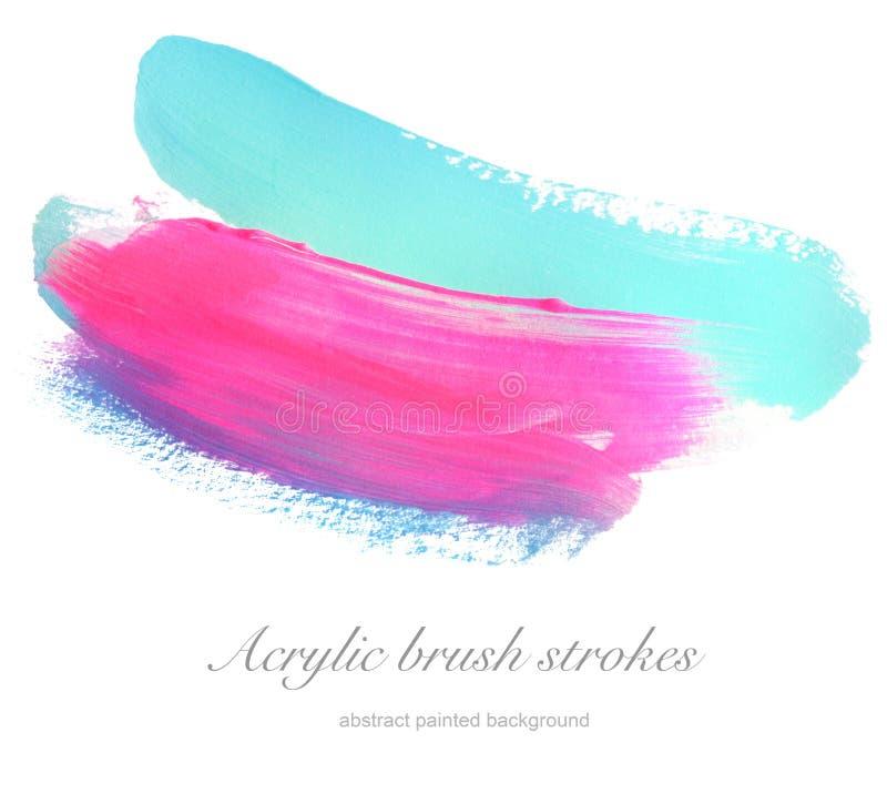 Abstraktes Acryl und Aquarell bürsten Anschläge gemalten Hintergrund lizenzfreies stockfoto