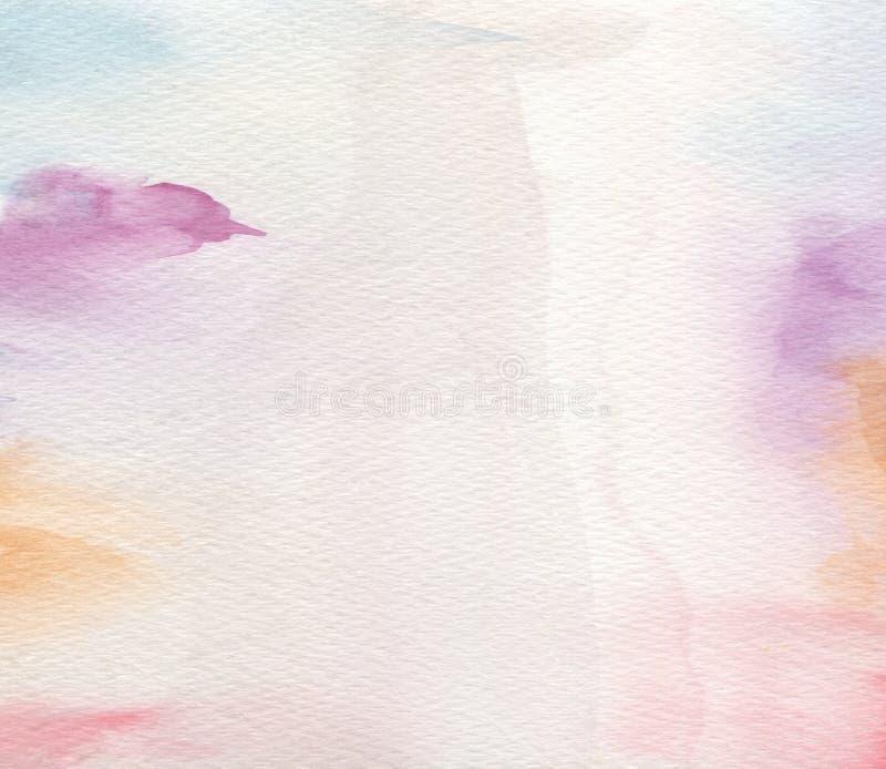 Abstraktes Acryl und Aquarell gemalter Hintergrund stockbild