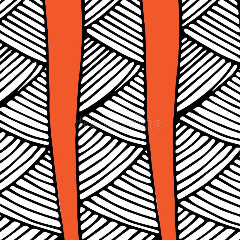 Abstraktes afrikanisches Muster orange und schwarz stockfoto