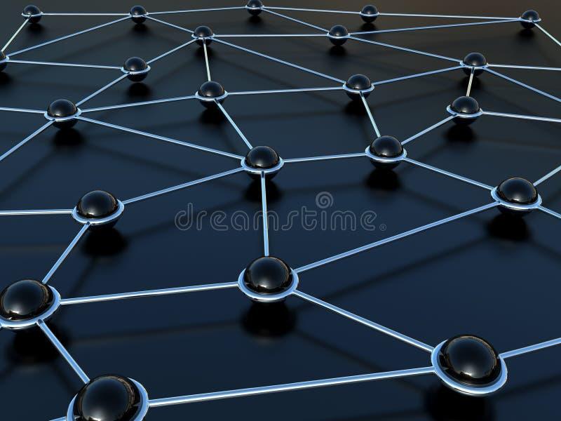 Abstraktes Anschlussnetz vektor abbildung