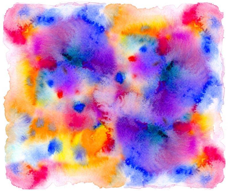 Abstraktes Aquarell des wässrigen Effektes oder Tintenmalerei auf Schmutzpapierbeschaffenheit vektor abbildung